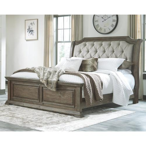 Wyndahl California King Upholstered Panel Bed