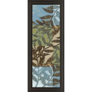 """Leaves Il"" Framed Print Wall Art"