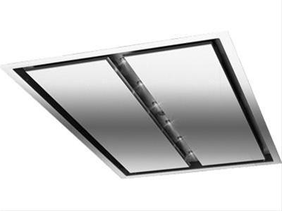 Cirrus 43-1/4 inch Brushed Stainless Steel Ceiling Mounted Range Hood with External Blower