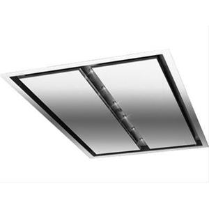 BestCirrus 43-1/4 inch Brushed Stainless Steel Ceiling Mounted Range Hood with External Blower