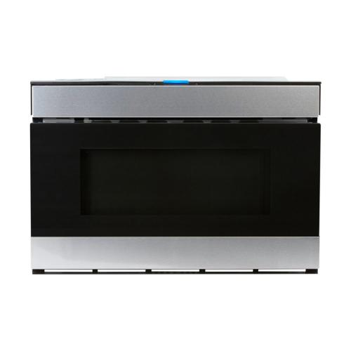 24 in. 1.2 cu. ft. 950W Sharp Stainless Steel Easy Wave Open Microwave Drawer