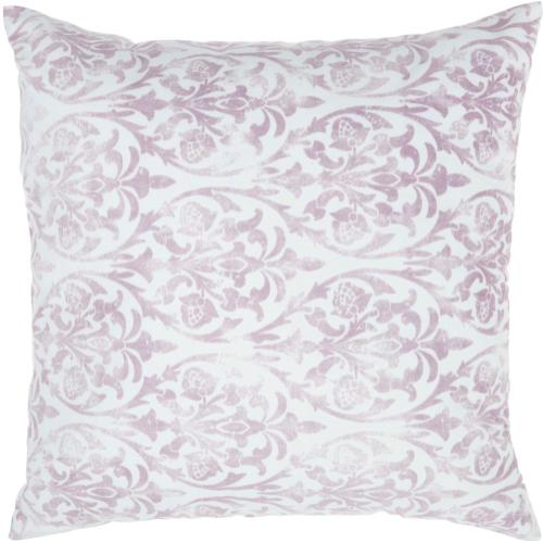 "Life Styles Qy551 Lavender 20"" X 20"" Throw Pillow"