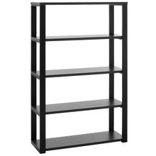 See Details - Dillon 40-inch Shelf/shelving Unit With Matte Anthracite Shelves and Matte Black Frame