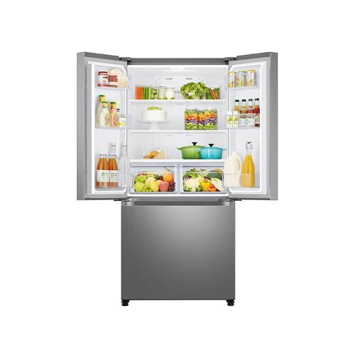 19.5 cu. ft. Smart 3-Door French Door Refrigerator in Stainless Steel