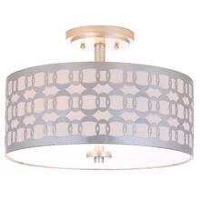 See Details - Cedar Linked 3 Light 15-inch Dia Silver Flush Mount - Silver