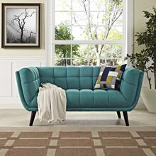 See Details - Bestow Upholstered Fabric Loveseat in Teal