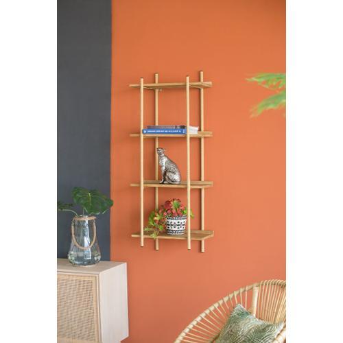 A & B Home - Four Tiers Shelf,Natural