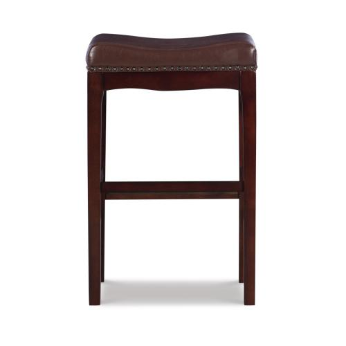 Upholstered Faux Leather 29-inch Barstool, Warm Brown