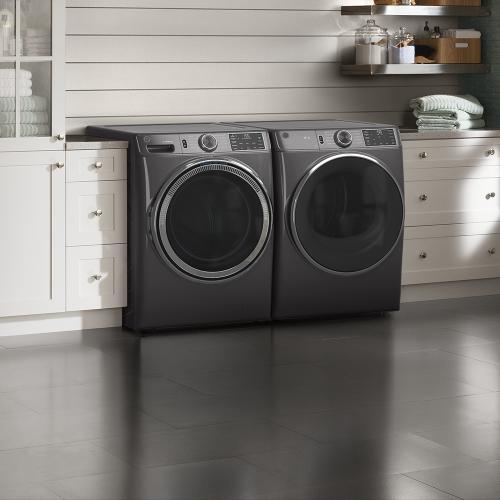 GE® 7.8 cu. ft. Capacity Gas Dryer with Built-In Wifi Diamond Grey - GFD55GSPNDG