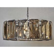 See Details - Large Beveled Glass 6-Light Chandelier