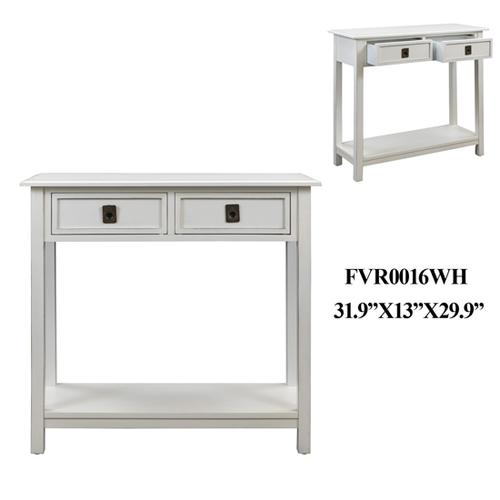 """Crestview Collections - 31.9X13X29.9"""" END TABLE, 1 PC KD PK/3.16'"""