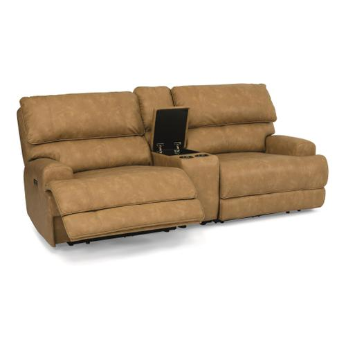 - Floyd Power Reclining Loveseat with Console and Power Headrests