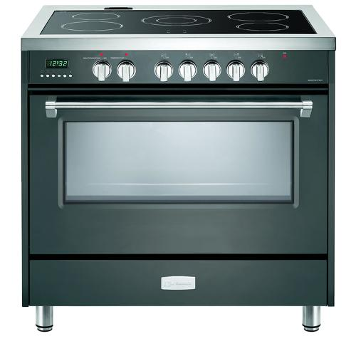 "Slate Gray 36"" Designer Electric Range"