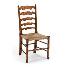 Walnut country ladder back chair (Side)