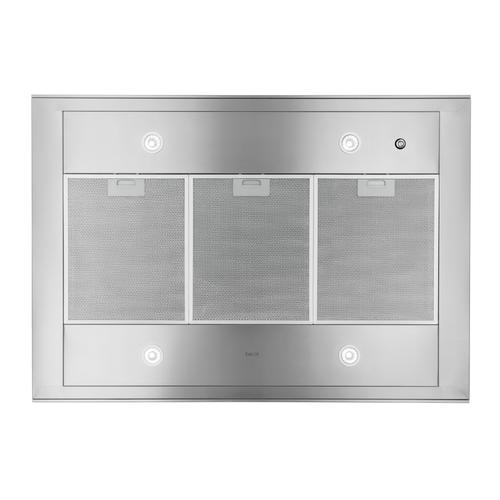 Gallery - 42-inch 800 Max Blower CFM Stainless Steel Island Range Hood with Black Glass (IC34I Series)