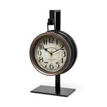 See Details - Taxz Metallic Brown Metal Hanging Table Clock