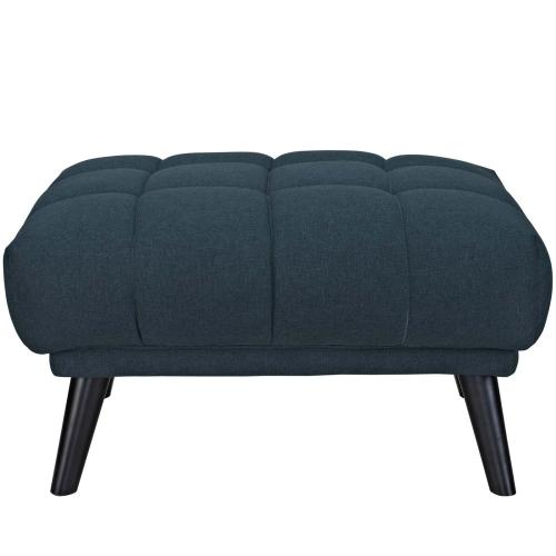 Modway - Bestow Upholstered Fabric Ottoman in Blue
