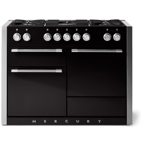 "AGA - Aga Mercury 48"" Dual Fuel Model, Gloss Black"