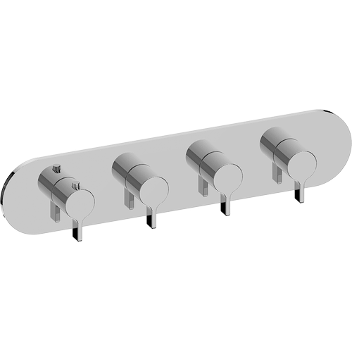 M-Series Valve horizontal Trim with Four Handles - Trim only