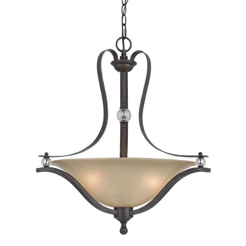 Cal Lighting & Accessories - 60W X 3 Riverton Metal Pendant Fx