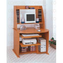 "DESK/COMPUTER W/BOOKCASE WOOD OAK/F 40""X29""""X59"""