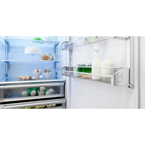 Brilliance (Width: 36in, Configures: 1 Door + 1 Bottom Drawer + 2 Separate Temperatures (0t), Functions: Fridge + Freezer, Finish: Integrated Solid, Opening: Left, Icemaker: Yes)