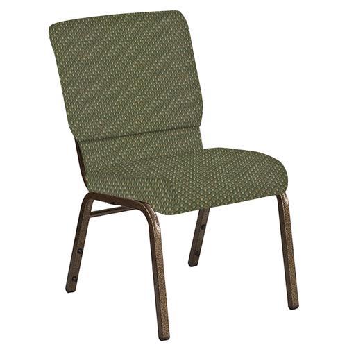Flash Furniture - 18.5''W Church Chair in Georgetown Alpine Fabric - Gold Vein Frame