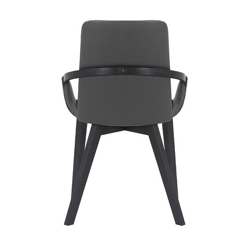 Greisen Modern Gray Upholstered and Wood Dining Room Chair