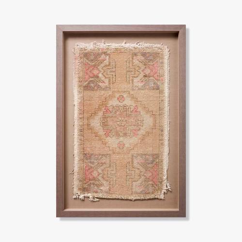 0351180025 Vintage Turkish Rug Wall Art