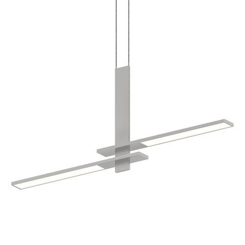 Sonneman - A Way of Light - Planes LED Pendant [Color/Finish=Bright Satin Aluminum, Shape=Cantilevered]
