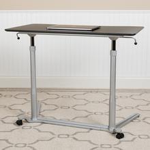 "See Details - Sit-Down, Stand-Up Black Computer Ergonomic Desk with 37.375""W Top (Adjustable Range 29"" - 40.75"")"