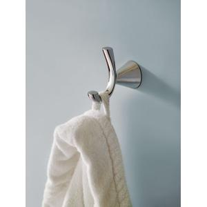 Glyde chrome double robe hook