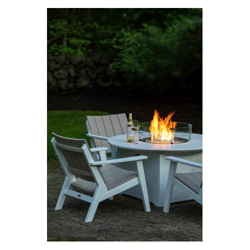 """Seaside Casual - Aura 50"""" Round Fire Table (901)"""