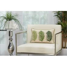 """Royal Palm Ns110 Green 12"""" X 18"""" Lumbar Pillow"""