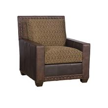 Savannah Leather Fabric Chair, Savannah Ottoman