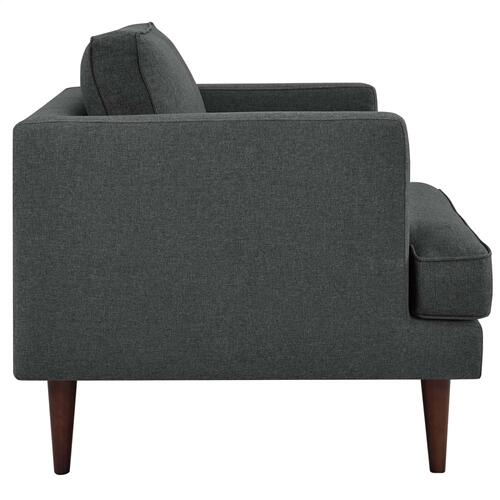 Agile Upholstered Fabric Armchair in Gray