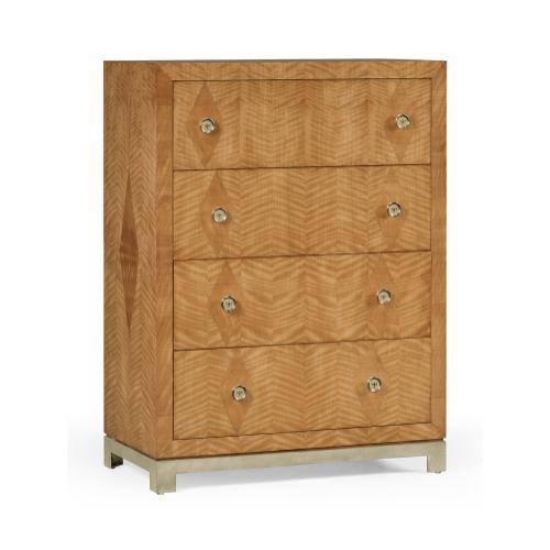 """Herringbone Argyle Blazer"" chest of four drawers"