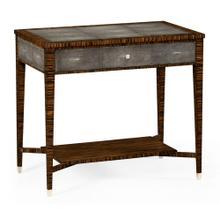 Faux macassar ebony & anthracite shagreen sofa table