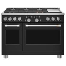 """Café™ 48"""" Smart Dual-Fuel Commercial-Style Range with 6 Burners and Griddle (Natural Gas)"""