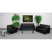 HERCULES Diplomat Series Reception Set in Black LeatherSoft