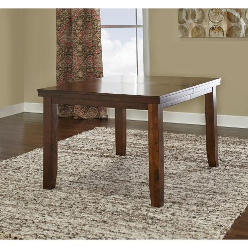 18-inch Expandable Leaf Dining Table, Rustic Walnut