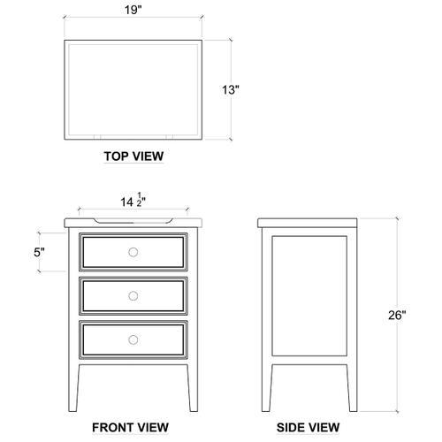 Gallery - Eton 3 Drawer End Table