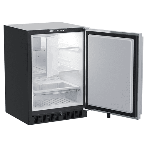 Marvel - 24-In Built-In Refrigerator Freezer With Crescent Ice Maker with Door Style - Stainless Steel
