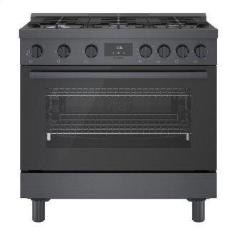 800 Series Gas Freestanding Range 36'' Black stainless steel HGS8645UC