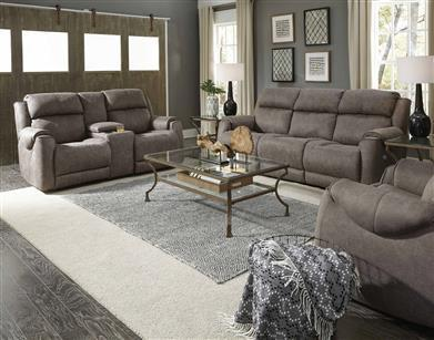 Power Reclining Sofa with Headrest Control and Massage and Heat