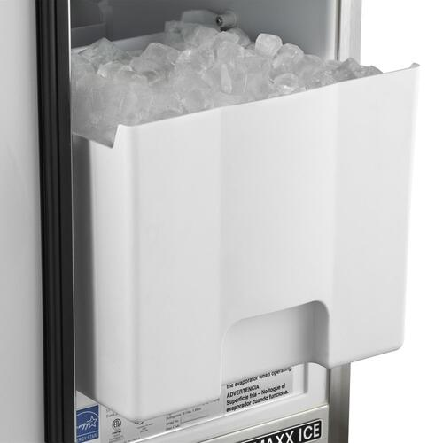 Maxx Ice Outdoor 50 lb. Freestanding Icemaker with Drain Pump in Stainless Steel