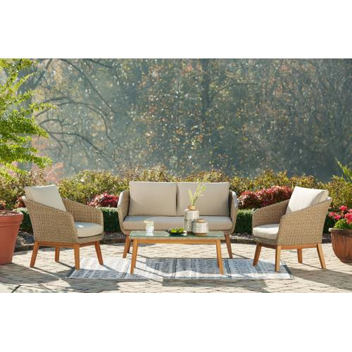 Outdoor Sofa and Loveseat With 2 Lounge Chairs