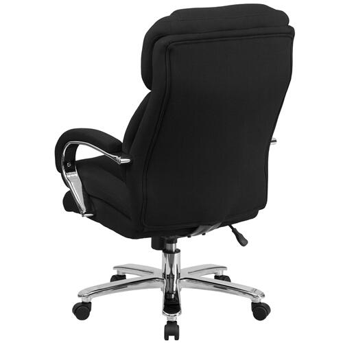 Gallery - HERCULES Series 24\/7 Intensive Use Big & Tall 500 lb. Rated Black Fabric Executive Ergonomic Office Chair with Loop Arms