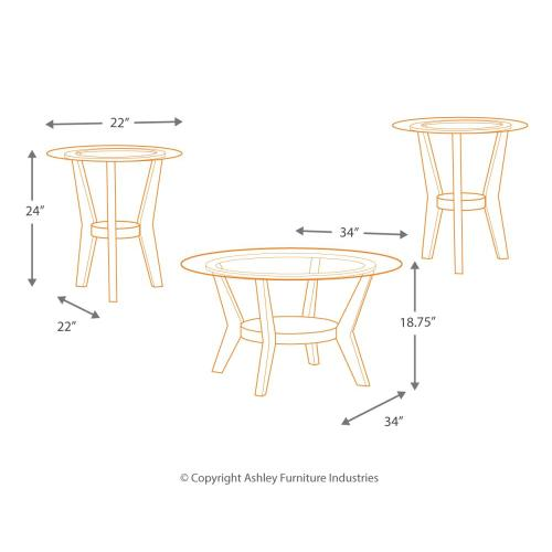 Signature Design By Ashley - Fantell Table (set of 3)