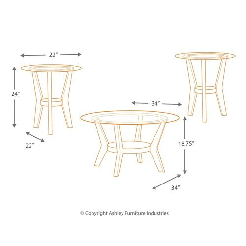 Fantell Table (set of 3)
